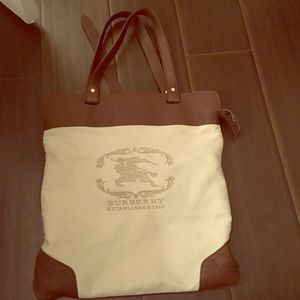 Burberry brown beige Stowell tote
